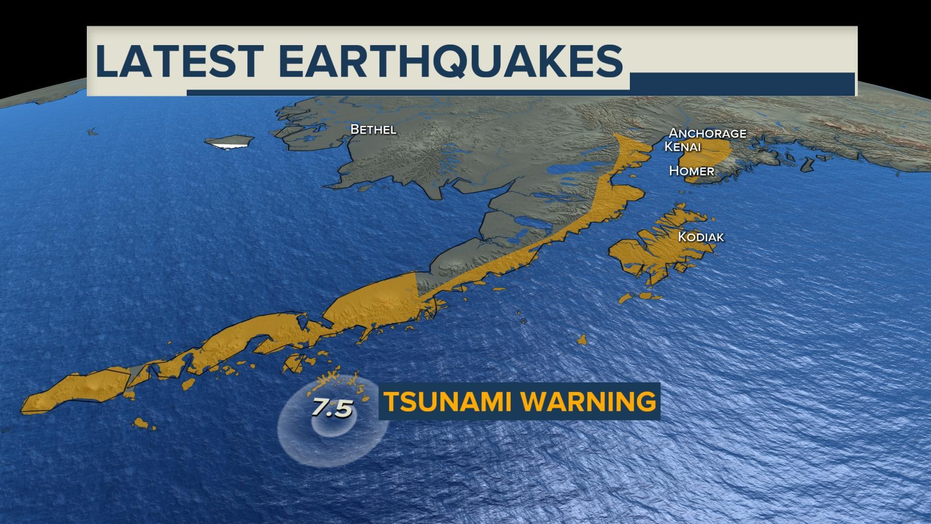 Tsunami Warning Issued For Parts Of Southern Alaska Klas