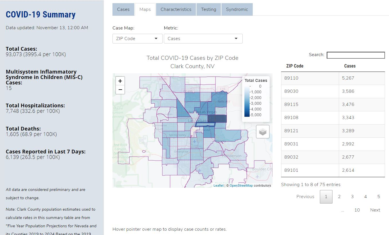 Is Your Zip Code High In Covid 19 Cases A Look At The Las Vegas Valley Klas