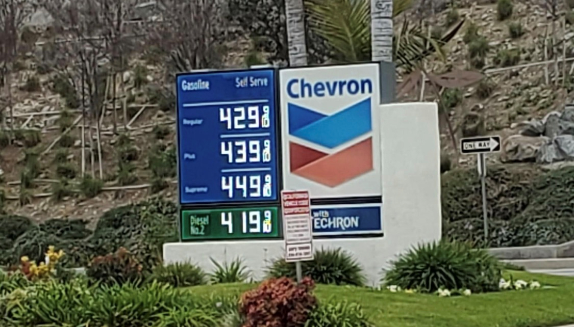 Gas prices going up nationwide, California tops $4